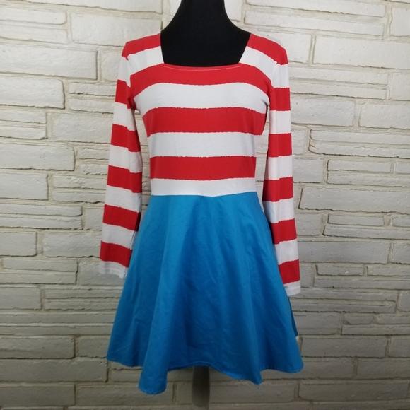 Where's Waldo ladies Halloween Costume Size Small
